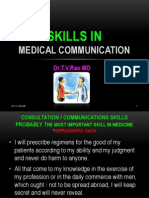 Skills in Medical Communication
