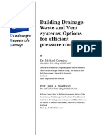 Building Drainage Waste and Vent Systems_Options for Efficient Pressure Control - Studor_HeriotWattUniv_report_Jan07
