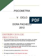 Distribución de frecuencias V CICLO PSICOMETRIA