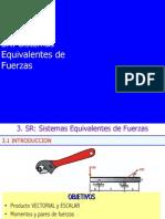 Estática - Sistema Equivalente de Fuerzas