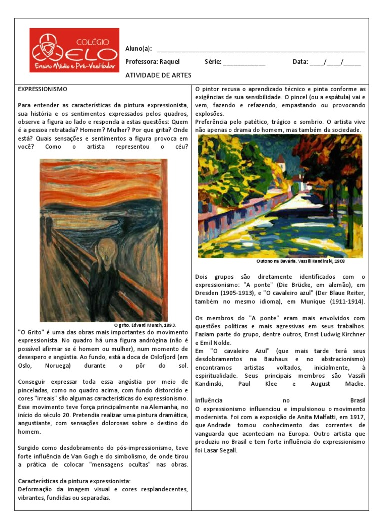 Expressionismo e impressionismo