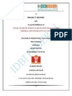 IDBI Federal Project Report