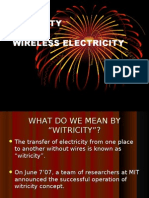 Witricity or Wireless Electricity