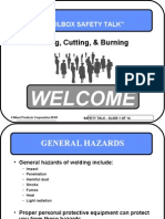 Welding, Cutting, & Burning