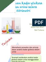 Penentuan Kadar Glukosa Dalam Urine Secara Titrimetri