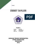 Tugas I - Deret Taylor