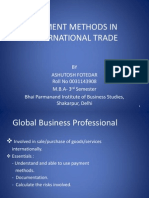 19875644 Payment Methods in International Trade