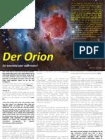 Der Orion - Ein Sternbild Oder Doch Mehr