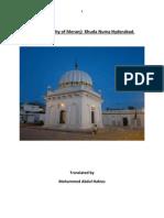The  biography of hadrat Meranji Khudanuma  Hyderabad