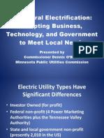 Dennis O'Brien - U.S. Rural Electrification