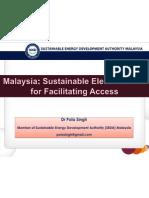 Pola Singh - Malaysia Sustainable Electrification for Facilitating Access