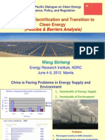 Sicheng Wang - Success in Electrification and Transition to Clean Energy