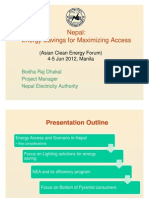 Bodha Raj Dhakal - Nepal Energy Savings for Maximizing Access