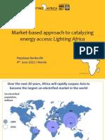 Pepukaye Bardouille - Market-Based Approach to Catalyzing Energy Access Lighti