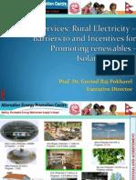 Govind Pokharel - Energy Services Rural Electricity