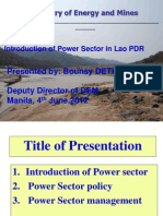 Bounsy Dethavong - Introduction of Power Sector in Lao PDR