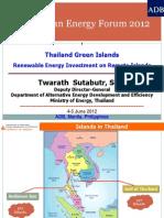 Twarath Subtabutr - Green Islands Renewable Energy Investment on Remote Islands