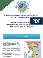 Victor Jona - Cambodia's Rural Electrification Minigrid Systems, Standard and Regulation