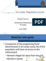 Ranjit Perera - Mini Grids in Sri Lanka Regulatory Issues