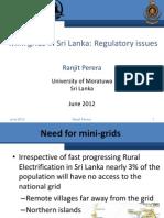 Ranjit Perera - Mini Grids in Sri Lanka Regulatory Issues