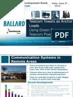 Alan Kneisz - Using Green Power for Telecom Power