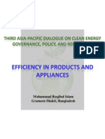 Mohammad Roqibul Islam - Efficiency in Products and Appliances