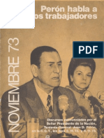 Perón, Juan. Discursos Nº 8 . Editorial Codex, 1974.