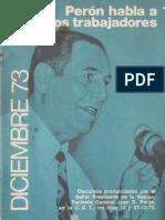 Perón, Juan. Discursos Nº 9 . Editorial Codex, 1974.