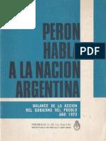 Perón, Juan. Discursos Nº 10 . Editorial Codex, 1974.