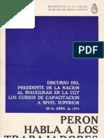 Perón, Juan. Discursos Nº 12 . Editorial Codex, 1974.