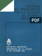 Perón, Juan. Discursos Nº 13 . Editorial Codex, 1974.