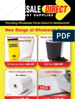 Wholesale Restaurant Supplies Catalogue