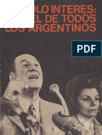 Perón, Juan. Discursos Nº 5 . Editorial Codex, 1974.