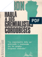 Perón, Juan. Discursos Nº 15 . Editorial Codex, 1974.