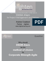 Organisational Transformation to the Use of DSDM Atern for PM and Delivery