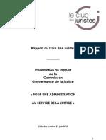 Commission Cadiet - le Rapport