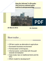 Formalizing the Informa in Rwanda, by An Ansoms
