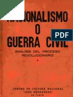 Nacionalismo o Guerra Civil