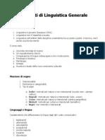 Appunti Di Linguistica Generale (PDF)
