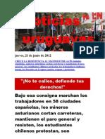 Noticias Uruguayas Jueves 21 Junio Del 2012