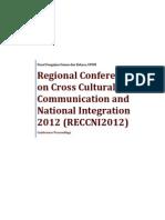 Conference Proceedings RECCNI2012
