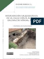 Intervención Arqueológica en la Calle Cerca Alta, 16 (Salinas de Añana, Álava). Memoria de Resultados