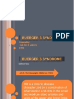 BUERGER'S SYNDROME final report