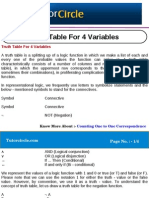 Truth Table for 4 Variables