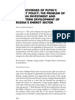 The Controversy of Putin's Energy Policy