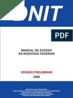 Manual de Acesso Rodovias Federais