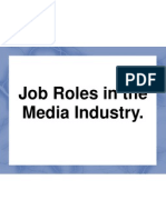 Job Roles in Film and TV
