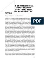 The Impacts of International Aid on the Energy Security of Small Island Developing States (SIDS)