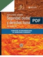 Informe Sobre Seguridad Ciudadana y Derechos Humanos