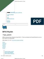 BPM Playlist (Bpm_playlist) June 31-2012